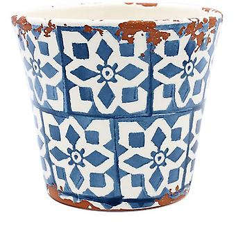 Eura Eura ceramic pot 14x12cm blue (Decoration , Plants and pots)
