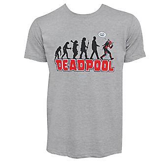 Deadpool evolution grijs mannen ' s T-shirt