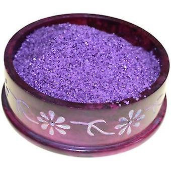 Djup violett mysk oljebrännare sjudande granulat Extra stor burk