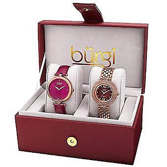 Burgi Women's Watch Gift Set van 2 vrouwen horloges