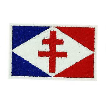 Patch Ecusson Brode Flag France De Gaulle Thermocollant Croix De Lorraine