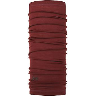 Buff Lightweight Wool Buff Neck Warmer in Wine