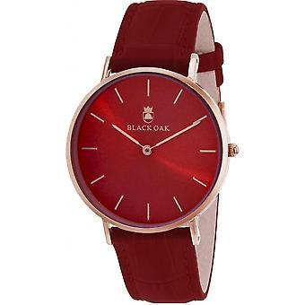 Watch Black Oak BX8300R-819 - watch leather red woman