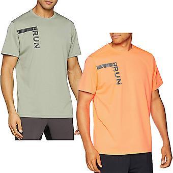 Alla Armour miesten ajaa pitkä graafinen lyhythihainen Crew Neck urheilu kunto sali T-paita Top