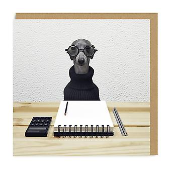 Ohh Deer Office Dog Square Greeting Card