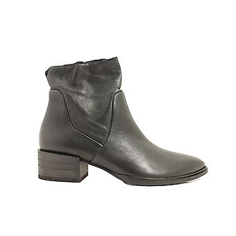Paul Green 8063-07 Brown Leather Womens Smart Ankle Boots