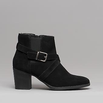 Hush Puppies Shilo Ladies Suede Ankle Boots Black