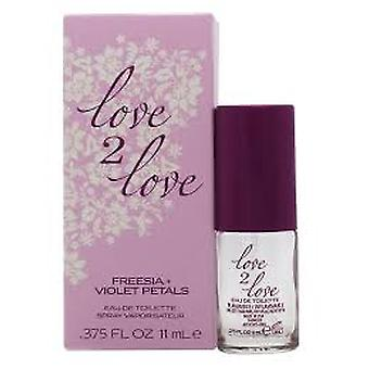 Love2Love Freesia + Violet bloemblaadjes Eau de toilette 11ml spray