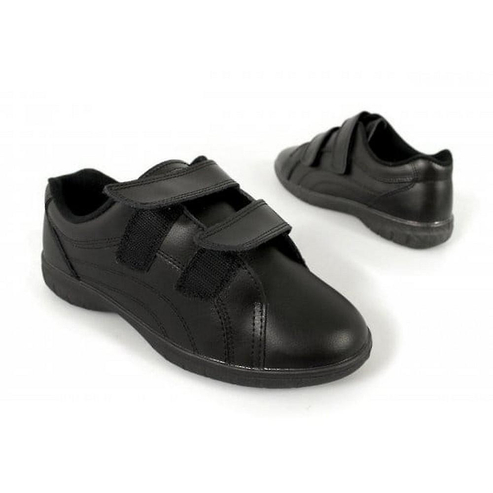 Boulevard Womens/Ladies Rex Twin Touch Fastening X Wide Leather Shoes