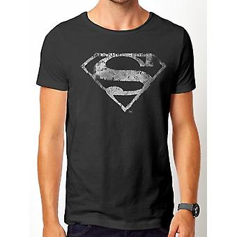 Superman-Logo Mono T-Shirt afligida