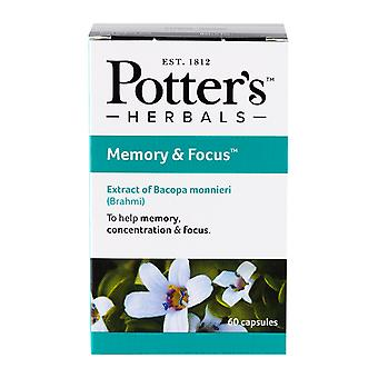Potters, Potter's Memory & Focus 60 capsules