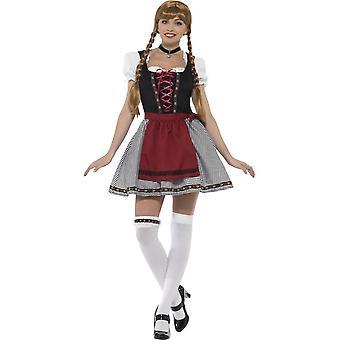 Flirttaileva Fraulein Baijerin puku, Oktoberfest Festival Fancy Dress, UK 12-14