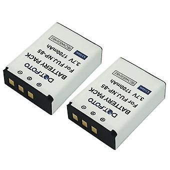 2 x Dot.Foto Fujifilm NP-85 - 3.7V batterie / 1700mAh