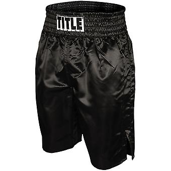 Title Professional Boxing Trunks - Black