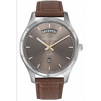 Shows Trendy Classic CC1043-08 - tier steel Anthracite man Sun Bo Brown leather