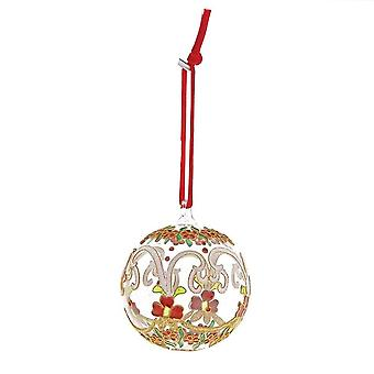 Enesco White & Red Flowers Hanging Ornament