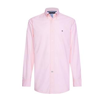 Tommy Hilfiger Natural Soft End On End Shirt Light Pink