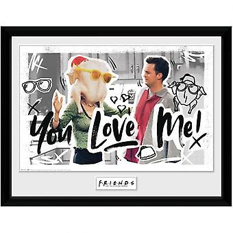 Friends Picture You Love Me 16 x 12