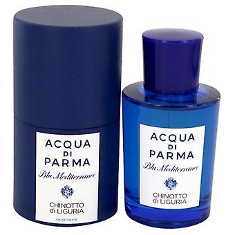 Blu mediterraneo chinotto di liguria eau de toilette spray (unisex) by acqua di parma 541593 75 ml