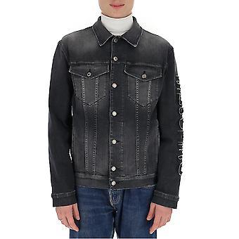 Moschino 06102024a0509 Men's Grey Cotton Outerwear Jacket