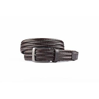 Braune elastische Gürtel aus hochwertigem Leder