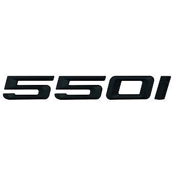 Matta musta BMW 550i auton merkki tunnus mallinumerot kirjaimet 5-sarjan E93 E60 E61 F10 F11 F07 F18 G30 G31 G38