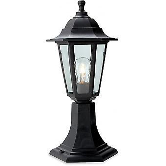 Firstlight Staid Traditional Black Pillar Top Coach Lantern
