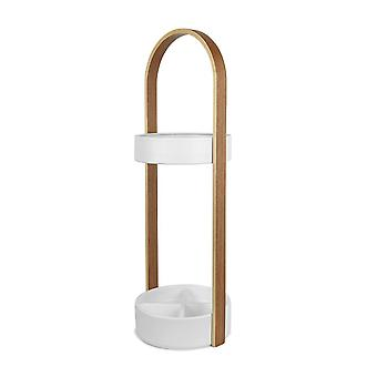 Umbra Hub Umbrella Stand - White/Natural