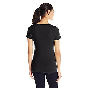 Clementine Apparel Women's Deep V Neck Tee, Sort, Lille