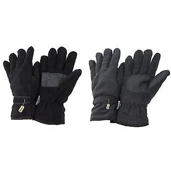 FLOSO Mens Thinsulate Thermal Fleece Gloves With Palm Grip (3M 40g)