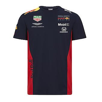 Aston Martin Red Bull Racing Kid's Puma Replica Team T-Shirt Proprietà Navy . 2020