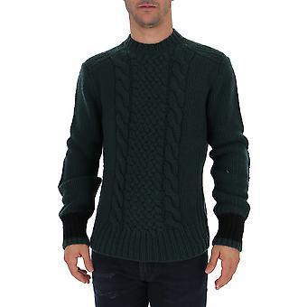 Prada Uma955wouf035g Männer's grüne Wolle Pullover