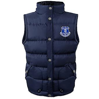Everton FC Official Football Gift Boys wyściełane body warmer kurtka Gilet