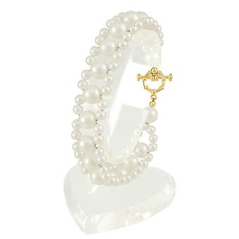 Eternal Collection Adorn White South Sea Shell Pearl Bracelet (Gold)