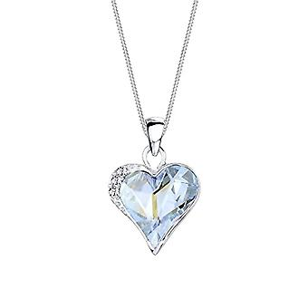 Elli Women's Necklace in Silver 925 with Blue Crystal