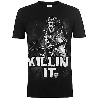 Character Mens Walking Dead Tee Crew Neck Shirt