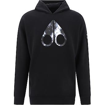 Moose Knuckles M10ms615292 Men's Black Cotton Sweatshirt