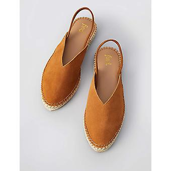 Marque - trouver. Femmes-apos;s Slingback Leather Espadrille Slip-On Shoe,Brown ...