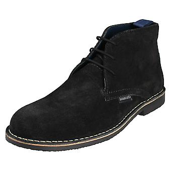 Mens Lambretta Lace Up Ankle Boots Carnaby III