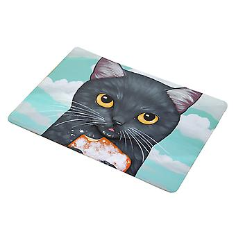 YANGFAN Cartoon Emoji Cat Non-Slip Bath Mat