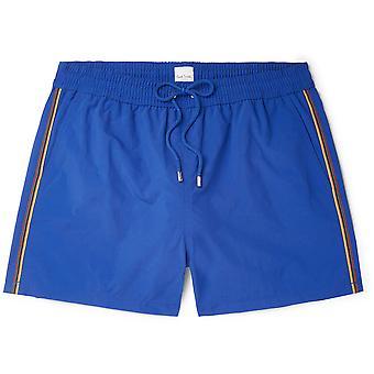 Pantalones cortos de baño con logotipo de rayas lisas