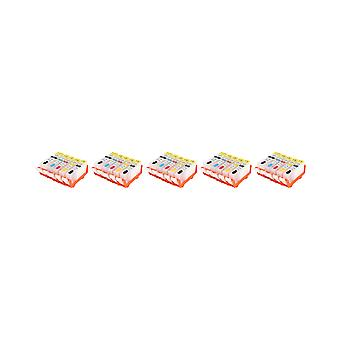 RudyTwos 5x Replacement for Canon PGI-520 CL-521 Set Ink Unit Full Set 4 Pack +1 Black Compatible with Pixma IP3600, IP3680, IP4600, IP4680, IP4700, MP540, MP550, MP560, MP620, MP630, MP640, MP980, MP