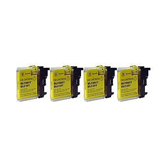 RudyTwos 4x Replacement for Brother LC-985Y Ink Unit Yellow Compatible with MFC-J220, J265W, J410, DCP-J125, J315W, J415W, J515W