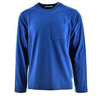 Nudie Jeans Rudi Royal Blue Pocket T-Shirt
