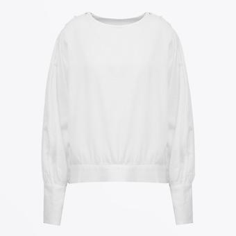 A-line  - Balloon Sleeve Blouse - White