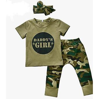 Baby Girl Top And Camouflage Pants Outfit