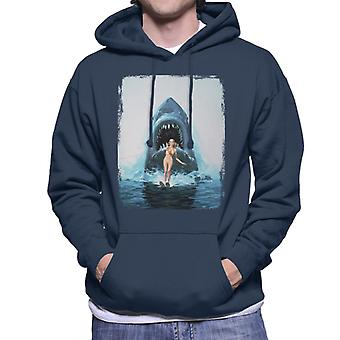 Jaws 2 Water Ski Men's Hooded Sweatshirt