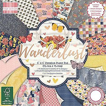 Almohadilla de papel Wanderlust 6x6 pulgadas de primera edición