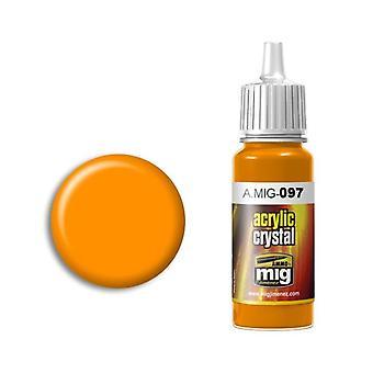 Ammo by Mig Acrylic Crystal Orange (17ml)