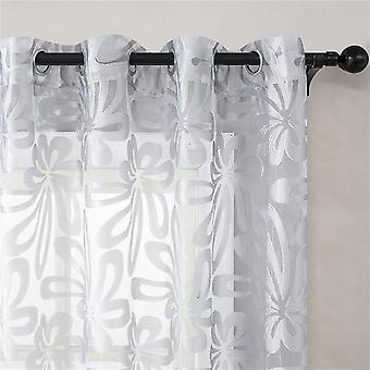 Geometric Modern Window Sheer Curtain Panels For Living Room - Bedroom Kitchen Blinds Window Treatments Draperies